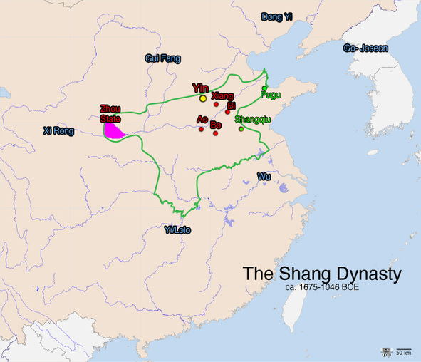 Exchange of goods during the Shang Dynasty - Trade